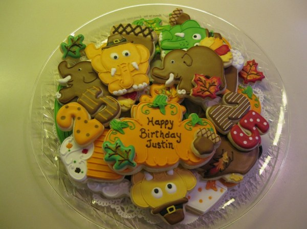 Thanksgiving Elephant B-day Cookies