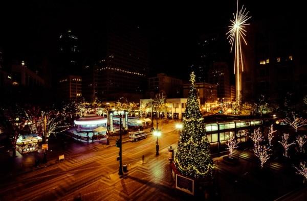 Westlake Park with Christmas Lights