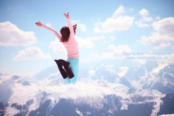 Jumping in Verbier