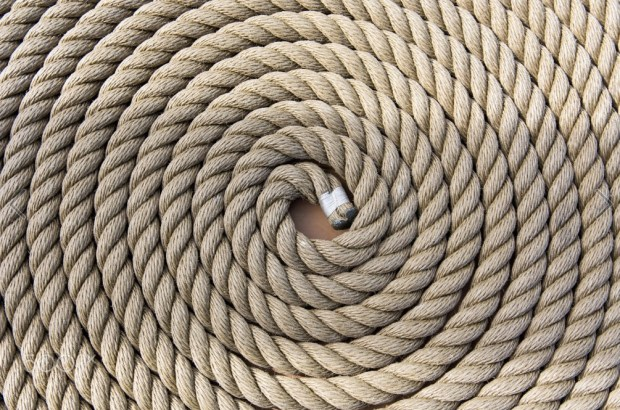 Roll of a ship rope background pattern