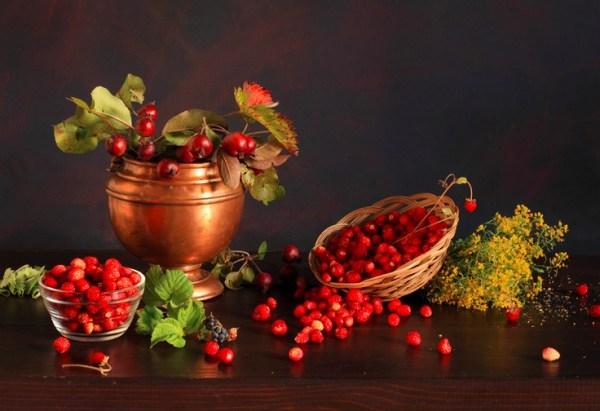 Crabapples And Wild Strawberries