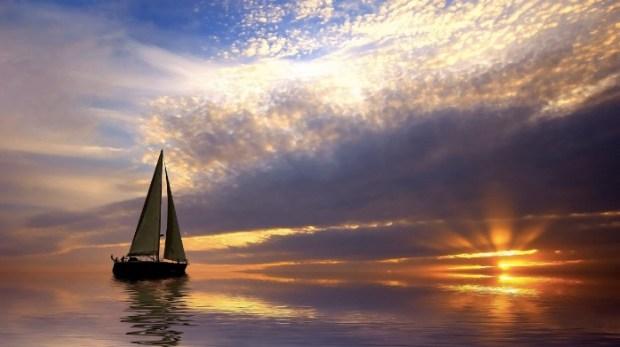 Sailing Sunrise Wallpaper