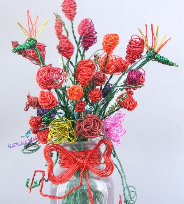 Bouquet of Flowers wire