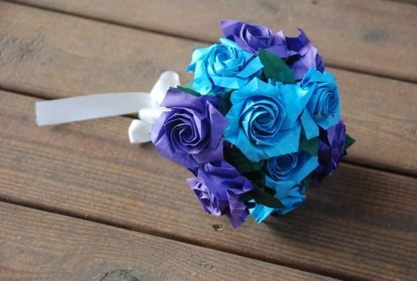 Origami Sato Rose Wedding bouquet