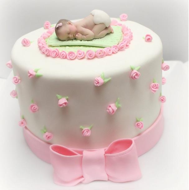 Girl baby shower cake1