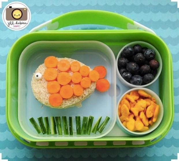 creative fish lunch box idea