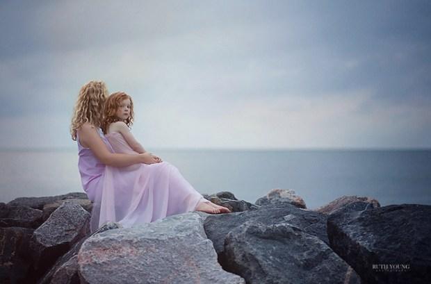 Mother & Daughter Seaside