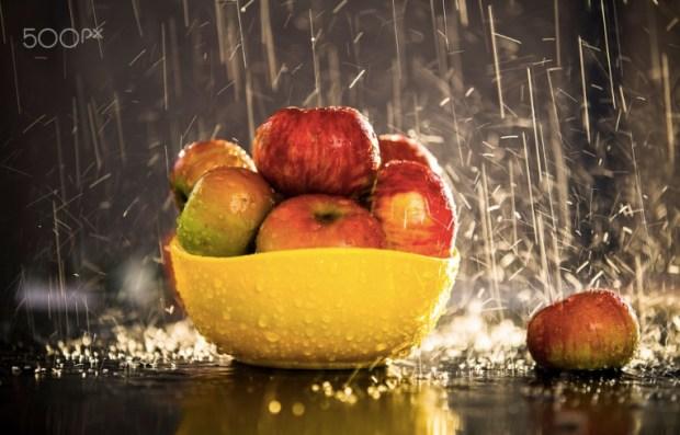Rain soaked Apples