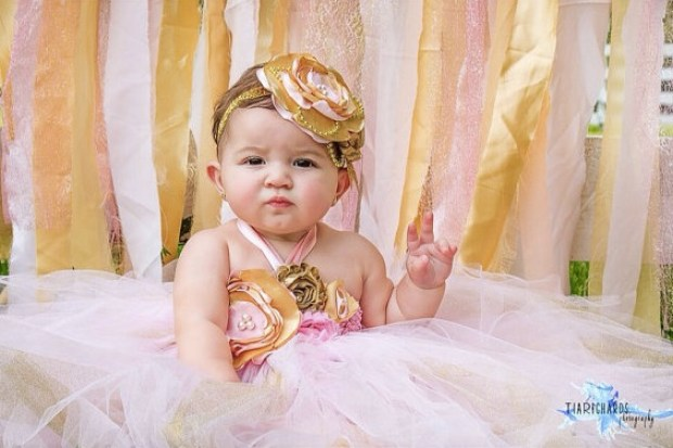 Gorgeous Light Pink and Gold Tutu Dress