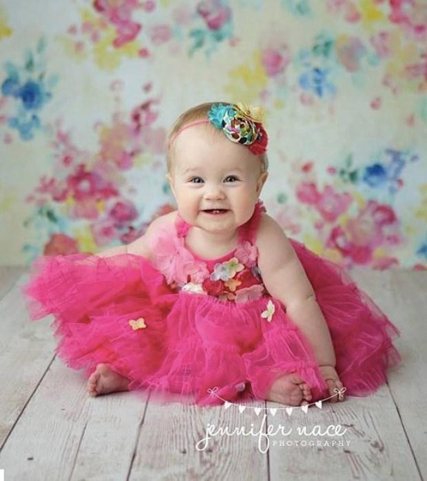 Bright Flower Tutu Dress