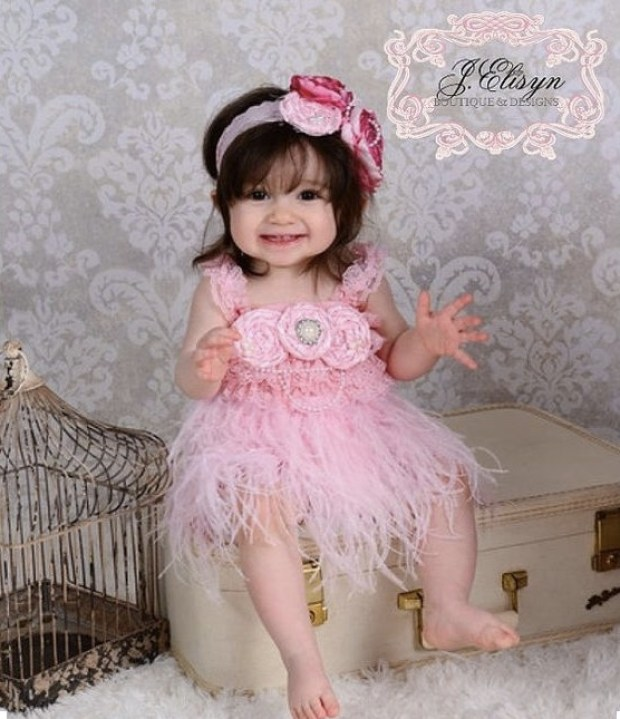 Cute Girl in ivory couture Headband