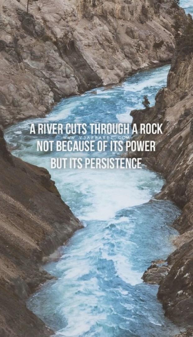 A river cuts through a rock
