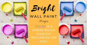 Bright wall paint design