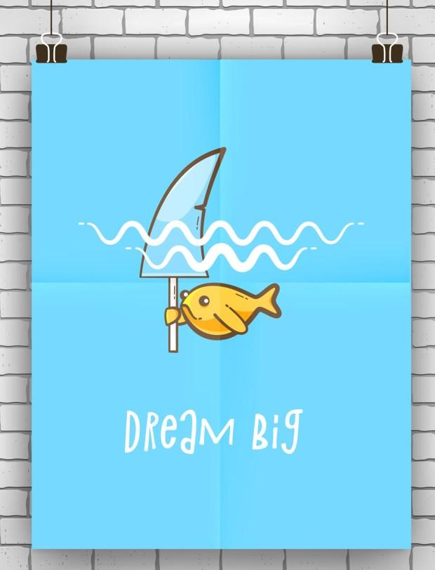Dream big Motivation quote