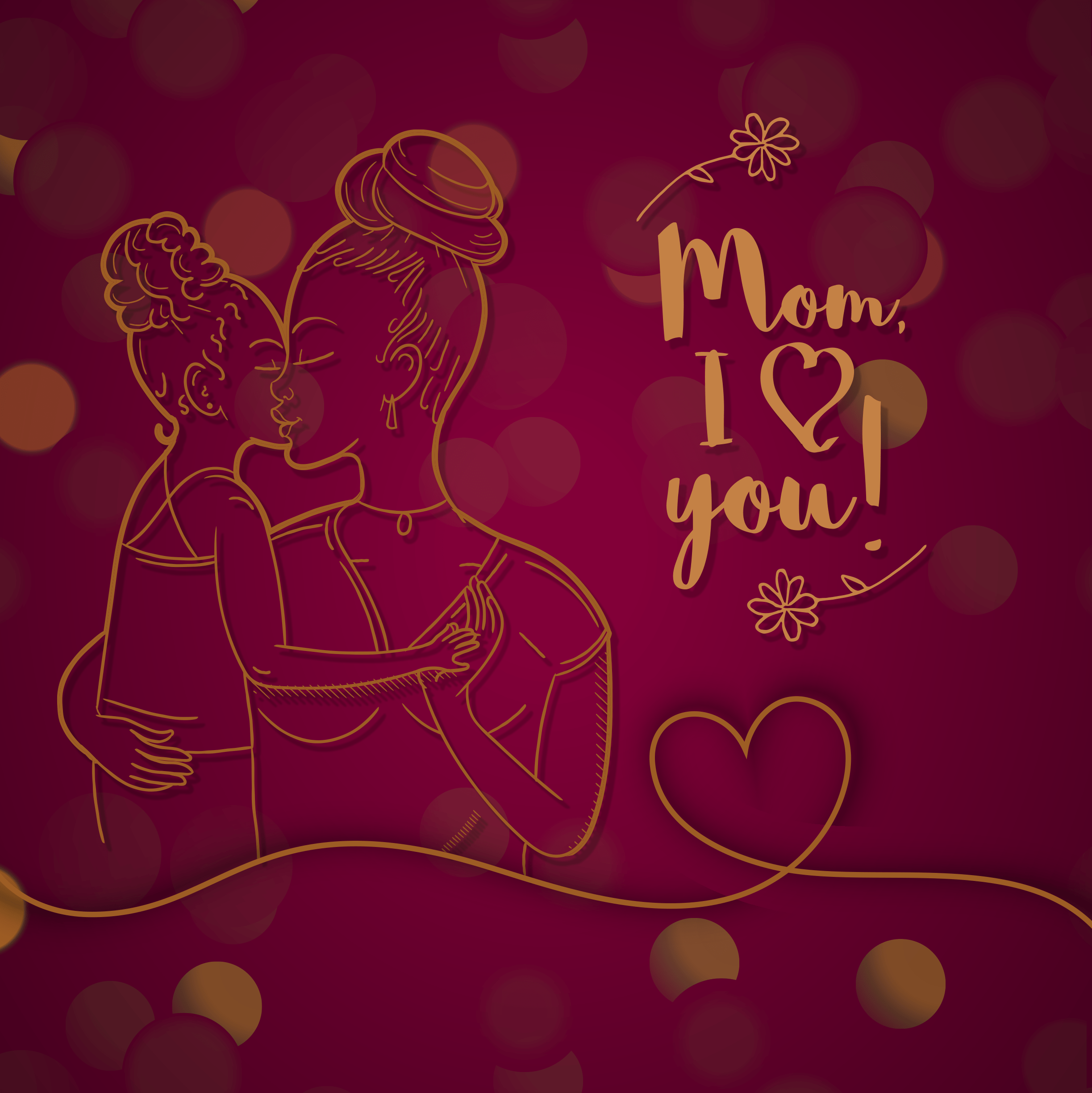 Happy Mother's day of Cute young mother embracing her son with love 2446 x 2448