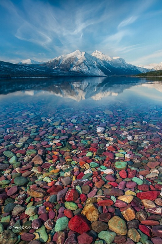 Mountain Jewels at Glacier National Park by Perri Schelat