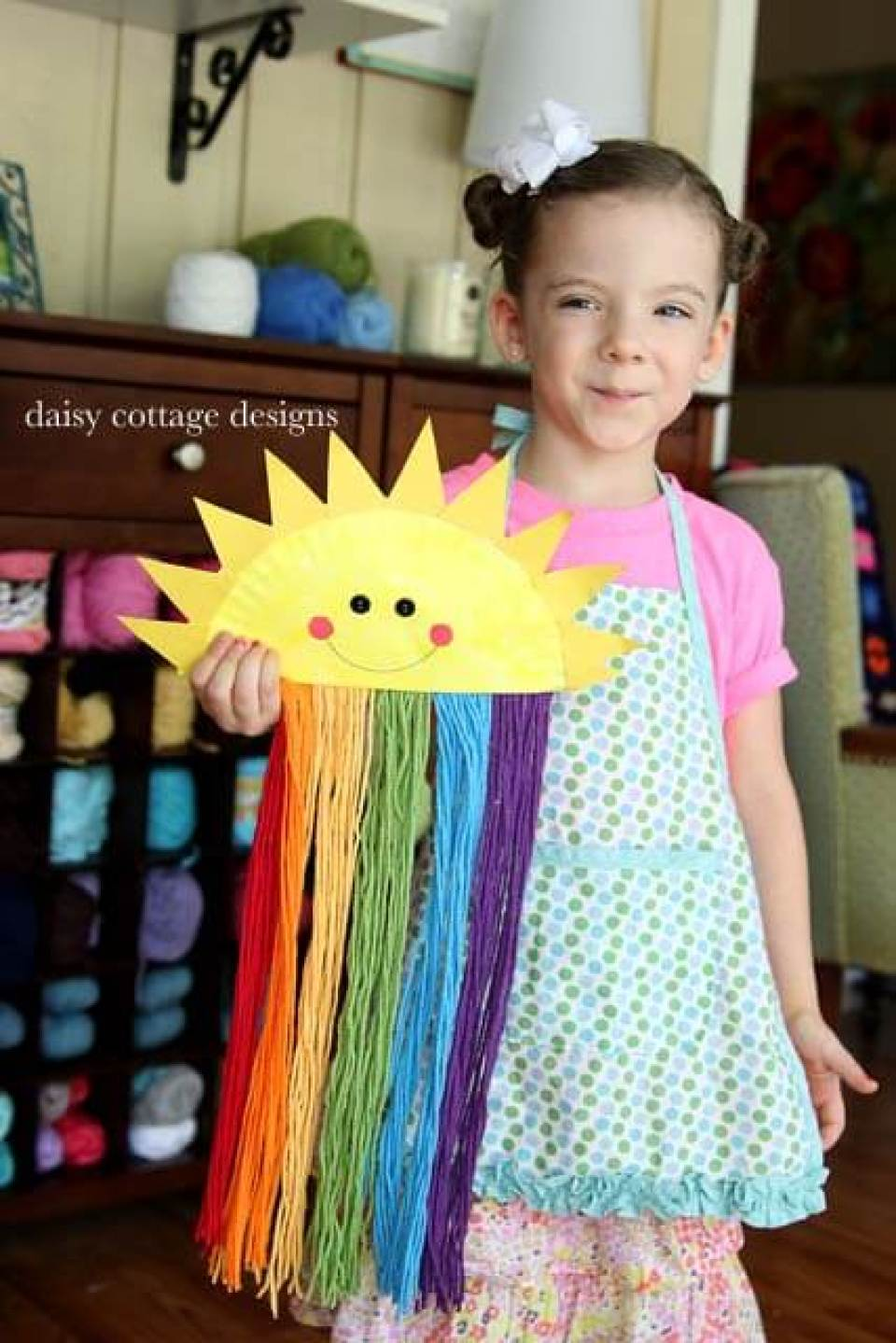Easy Paper Plate Sunshine Craft