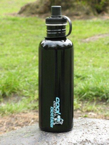 1 liter water bottle black