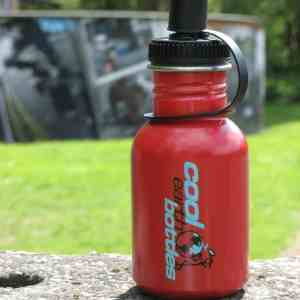 Red 350ml Steel water bottle