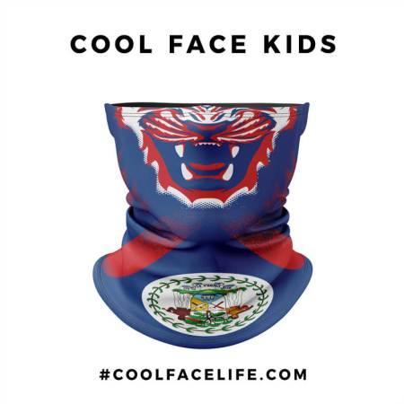 Kid Size - Belize Flag Face Bandana