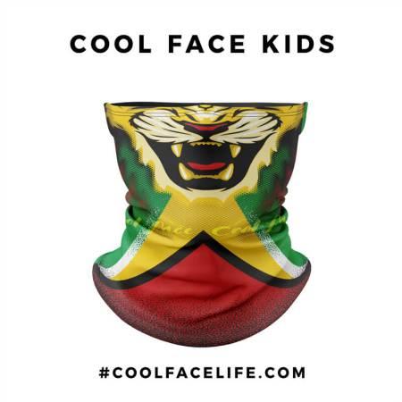 Kid Size - Guyana Flag Face Bandana