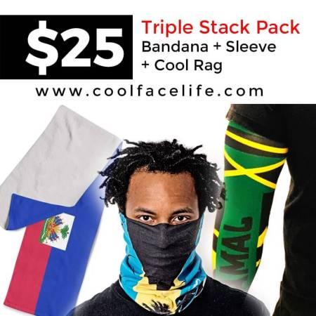 Triple Stack Flag Bandana Sleeve Cool Rag