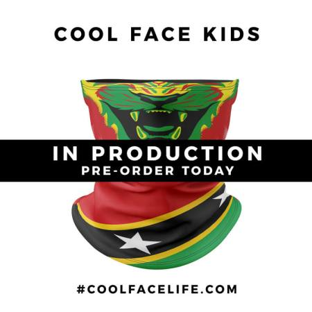 Kids Size – St Kitts Flag Face Bandana