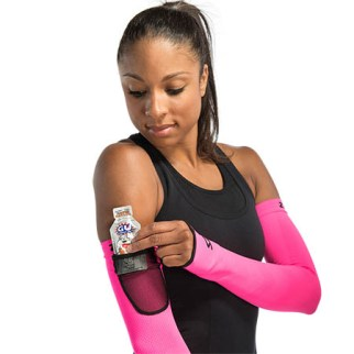 Zensah Limitless Arm Warmers include a functional side pocket in one of the sleeves.