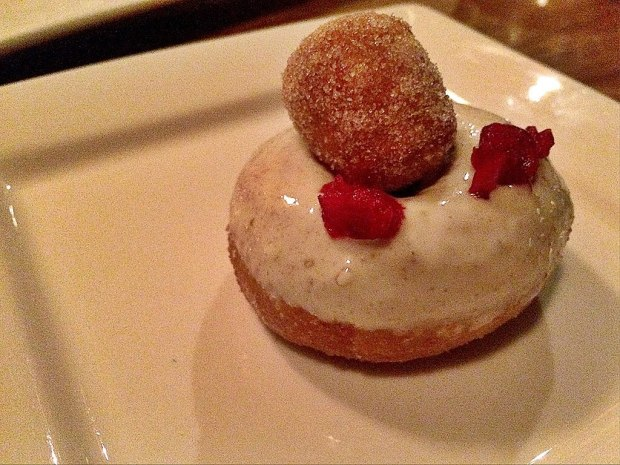 White chocolate cranberry donut