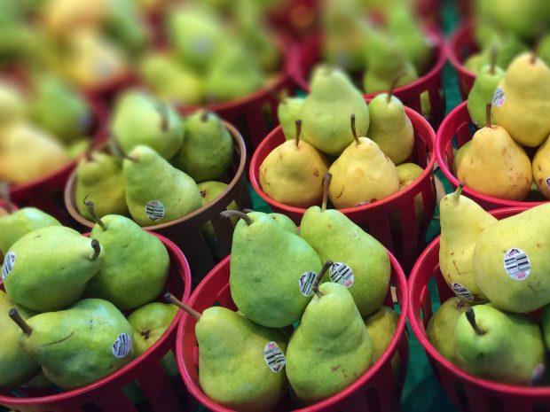 Jean Talon Market Montreal pears