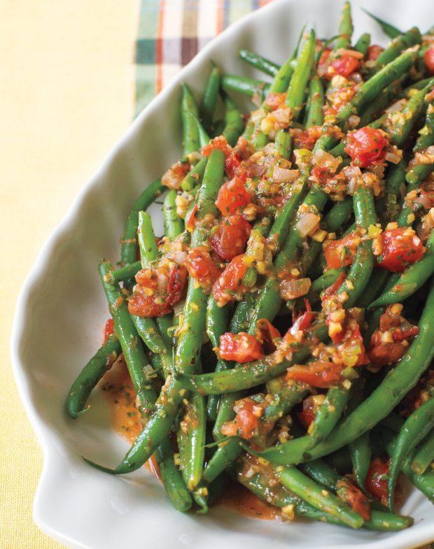 Tomato Ginger Green Beans