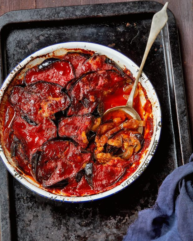 My Mom's Sweet-and-Sour Baked Eggplant, Excerpted from Shuk by Einat Admony & Janna Gur (Artisan Books). Copyright © 2019. Photographs by Quentin Bacon. Used with permission from the publisher.
