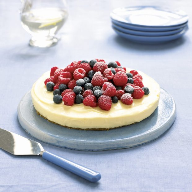 Lemon Cheesecake on a Ginger Crust, Cooking with Mary Berry. All images © Dorling Kindersley Limited.