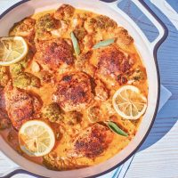 One-Pan Lemon Sage Chicken and Cauliflower