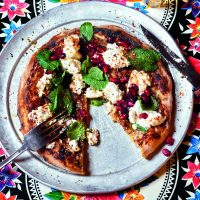 Aubergine and Ricotta Flatbread