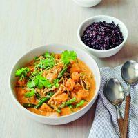 Butternut Squash, Green Bean and Enoki Thai Coconut Curry