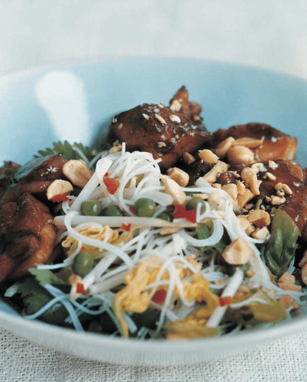 Warm Chicken Teriyaki Salad