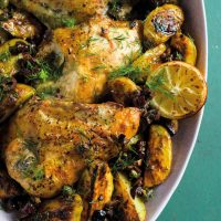Greek Chicken and Potato Traybake