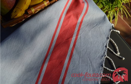 Classic Bicolor Light Grey - Orange Red by Cool-Fouta