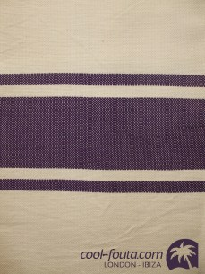 Classic Bicolor Light Grey White - Plum by Cool-Fouta