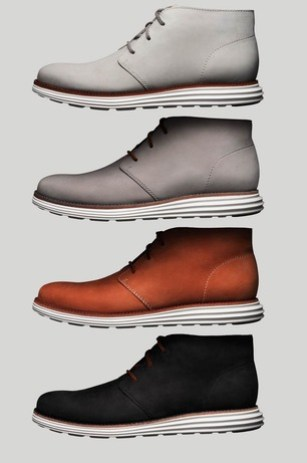ba5e9cb9439 As a follow up to the LunarGrand Wingtip, Cole Haan is launching a line of  LunarGrand Chukkas at their SoHo store in NYC this week. The shoes sport a  nubuck ...
