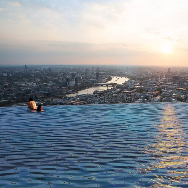 Cool hunting design for Rooftop pool design