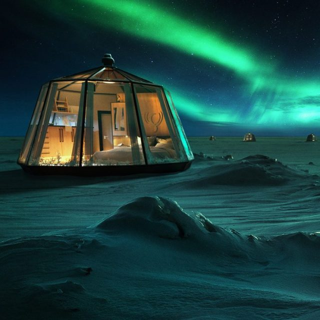 Luxury Action's Pop-Up Hotel at the North Pole