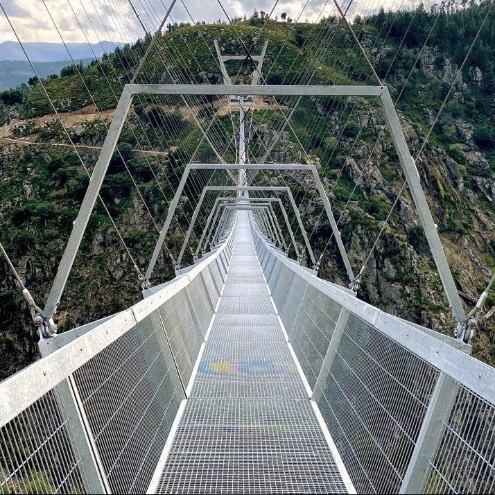The World's Longest Pedestrian Suspension Bridge Opens in Portugal