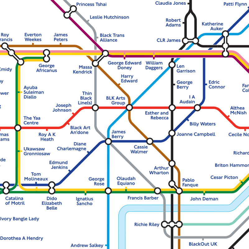 First Black History Tube Map Pays Tribute to Iconic Black Britons