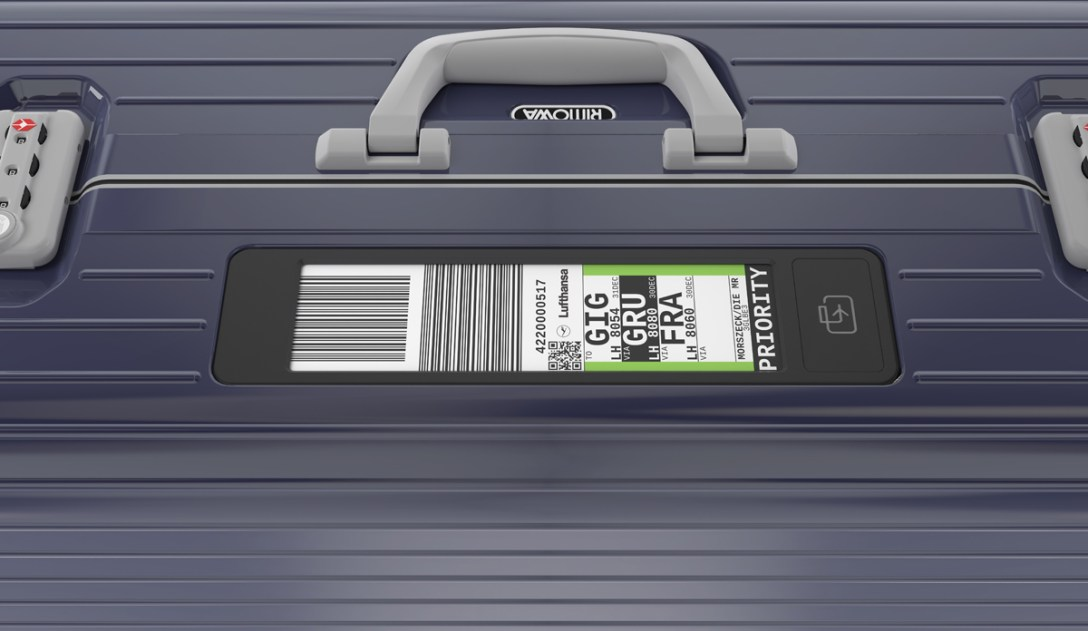 RIMOWA's Electronic Luggage Tag for Advanced Check-in