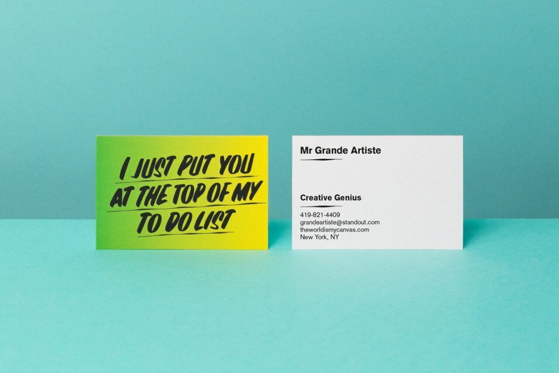 made in a limited edition of 5000 these business cards are super bright bold and much more daring than traditional versions - Fancy Business Cards