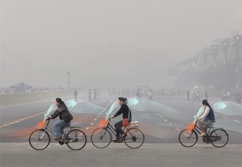 Spring maar achterop mijn smog-vrije ofo