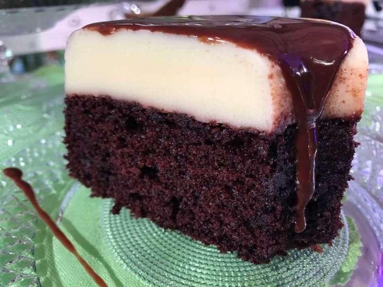 Receita de Bolo de Pudim de Chocolate