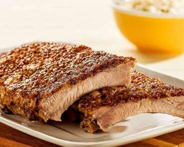Receita de Costelinha suína ao mel e mostarda
